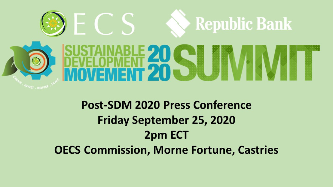 [MEDIA ALERT] OECS/Republic Bank Sustainable Development Movement 2020 Press Conference