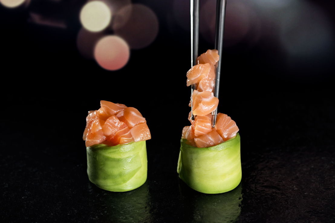 Giappone - Foglia di avocado e tartarre di salmone