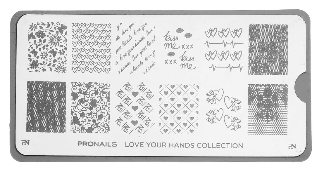 Stamping Plate Love Your Hands