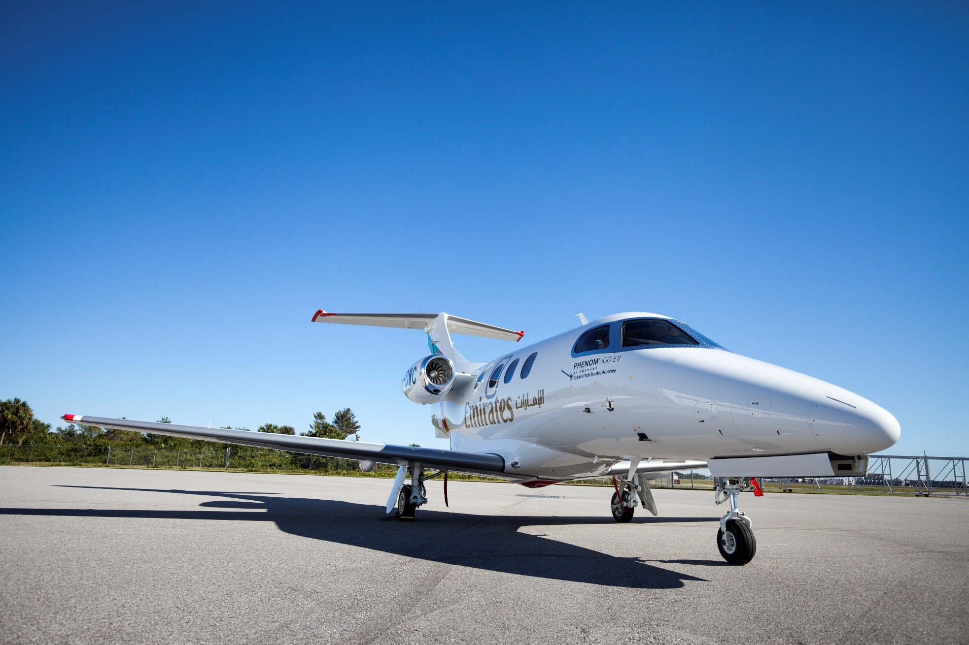 Emirates Flight Training Academy welcomes its first Embraer Phenom 100EV