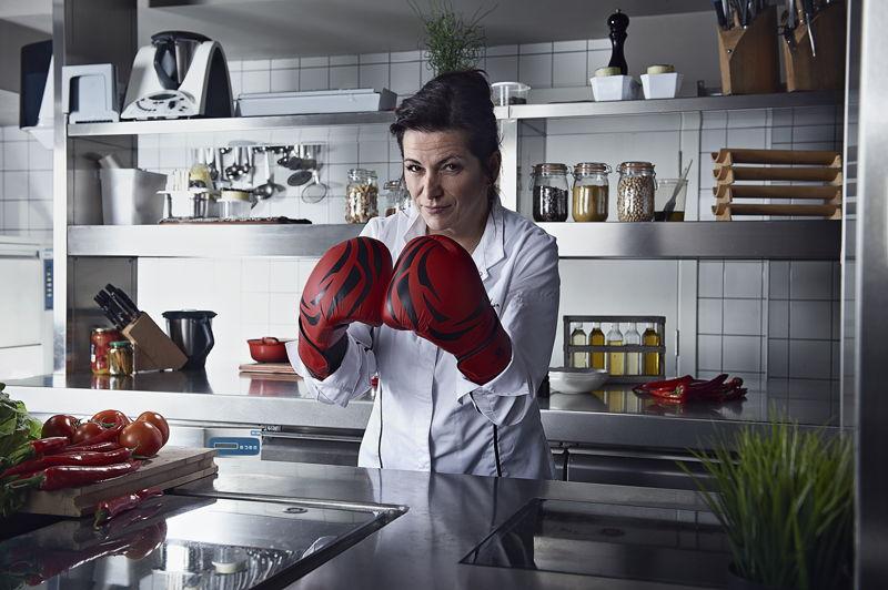 Arabelle Meirlaen, chef étoilé du restaurant Li Cwerneu à Huy