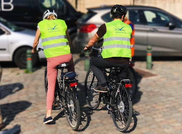 Met de fiets in het verkeer