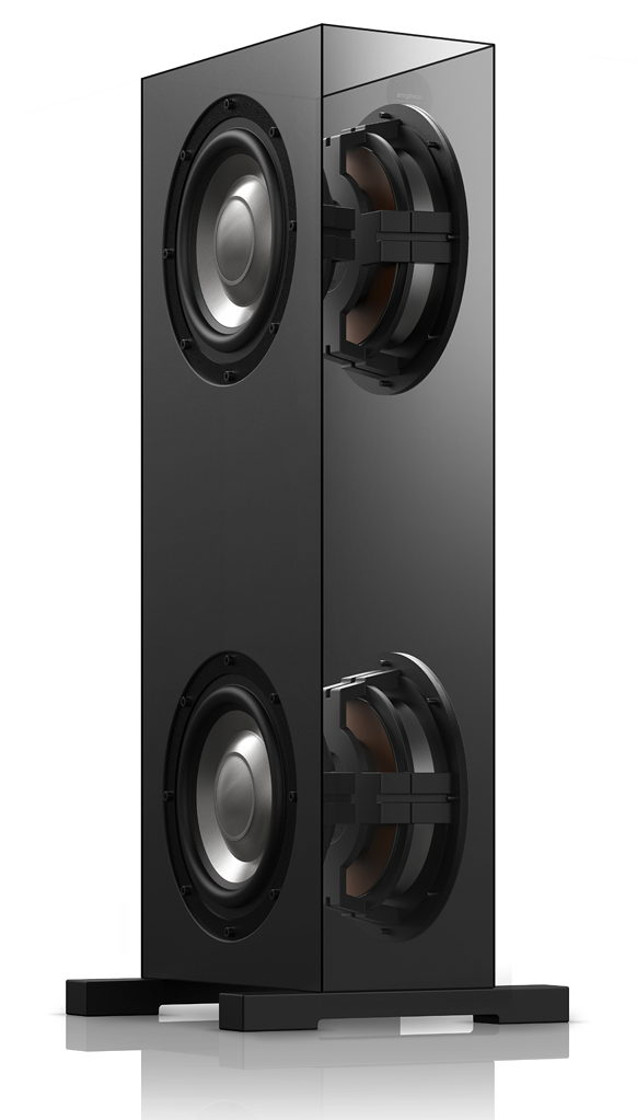 """Each extender is equipped with two 10"""" back-to-back woofers."""