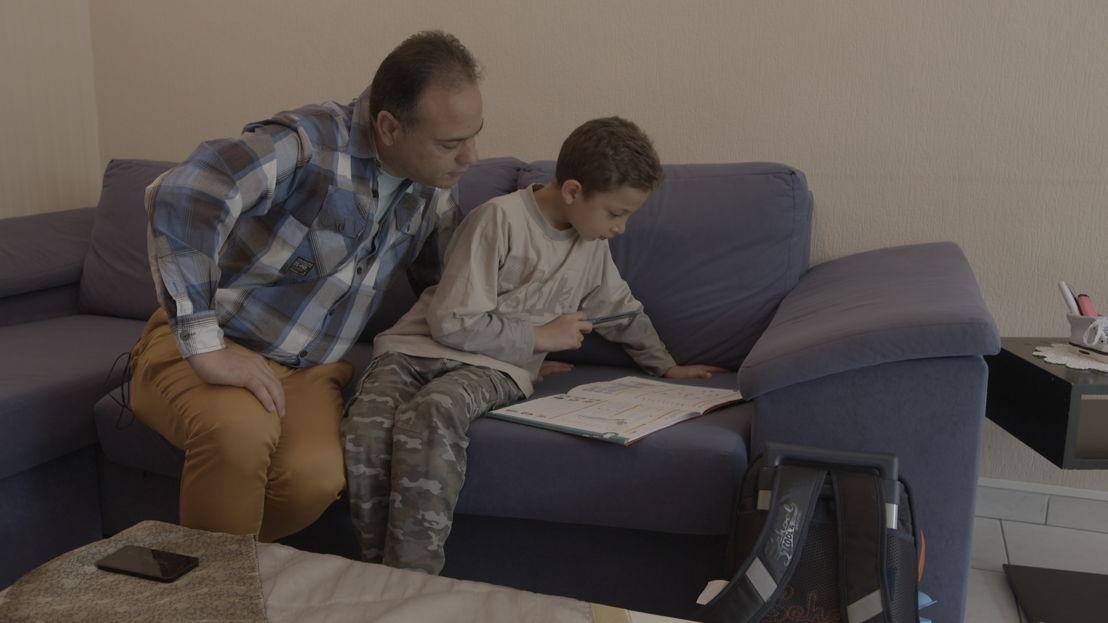 Koppen: Samir en zoon<br/>(c) VRT