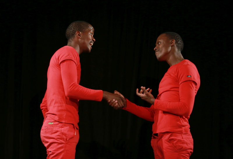 Thando Suselo and Lubabalo Nontwana in Worst of Both Worlds. Image by Nardus Engelbrecht