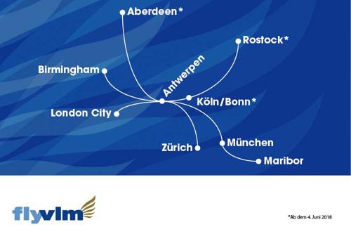 Preview: Neue Linienflugverbindungen von Antwerpen nach Köln/Bonn und Rostock ab Juni 2018