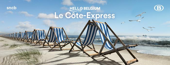 La SNCB lance le Côte-Express : des trains directs avec réservation, vers et depuis la côte, pendant les vacances d'été