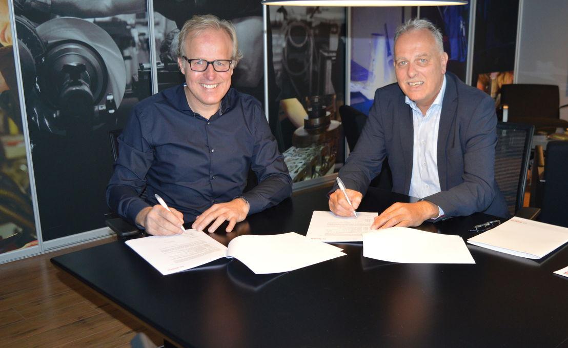 Vlnr: Michel Chaudron en Rene Heidt