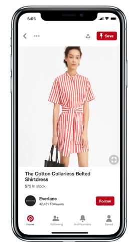 Pinterest facilita las compras