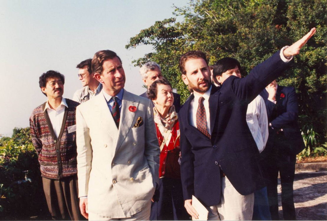Prince Charles visits the Kadoorie farm in 1994