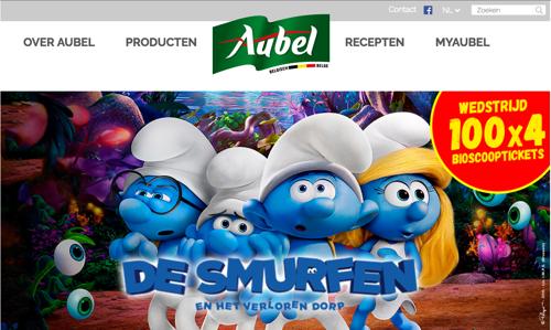 there smurft een wedstrijd én een nieuw online platform voor Aubel