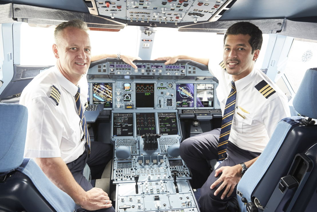 Captain Thomas Ziarno From New Zealand And First Officer Abdulrahman Mohamed Al Busaeedi The UAE