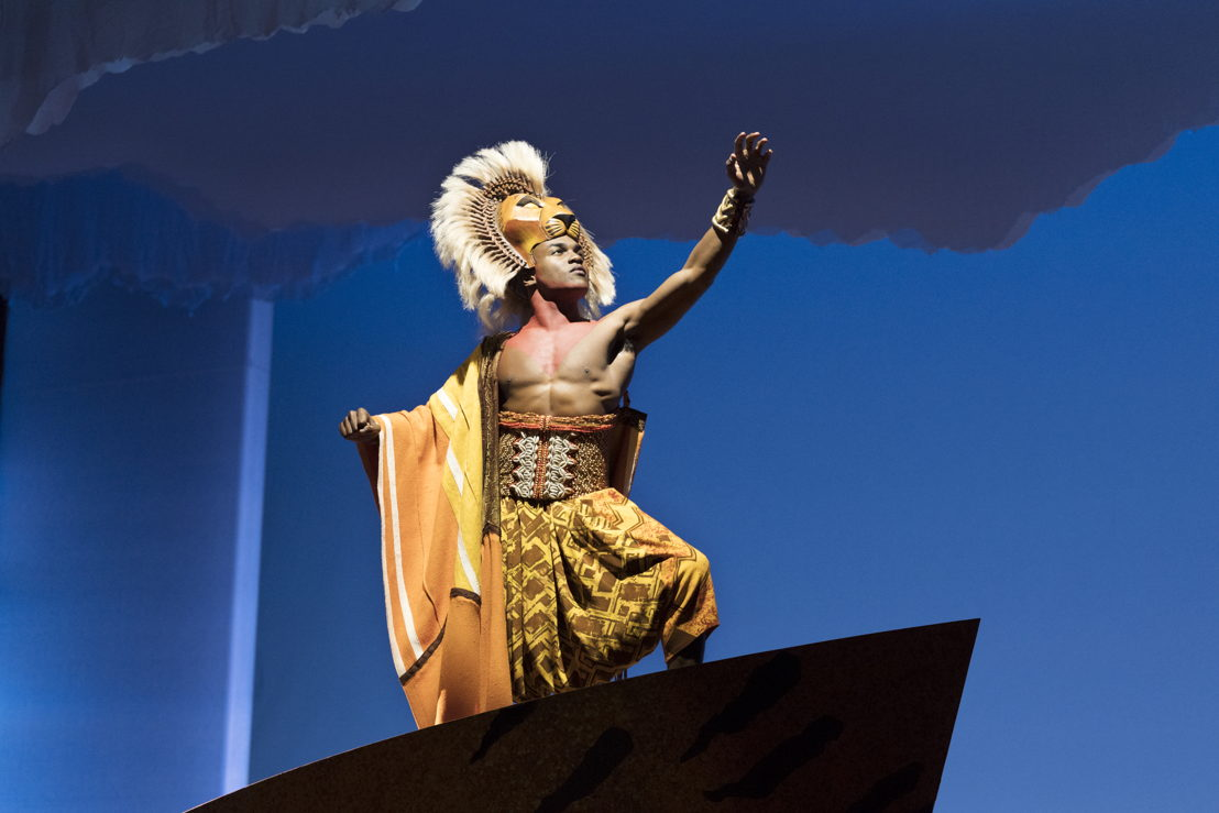 "Gerald Caesar as ""Simba"" in THE LION KING North American Tour. ©Disney.  Photo by Deen van Meer"