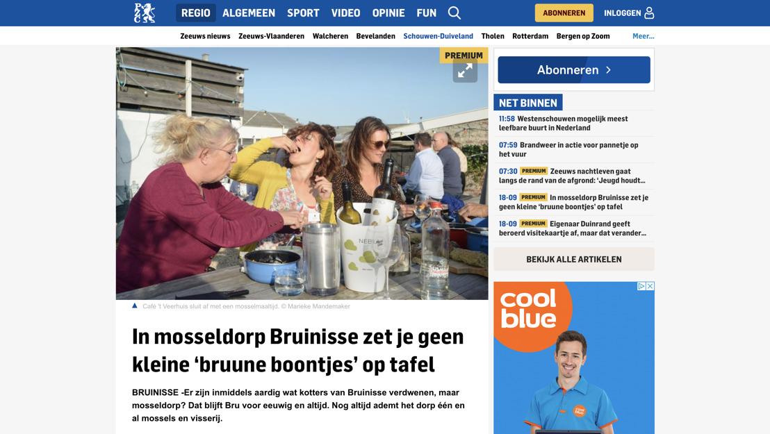 PZC schrijft over Mosseldorp Bruinisse