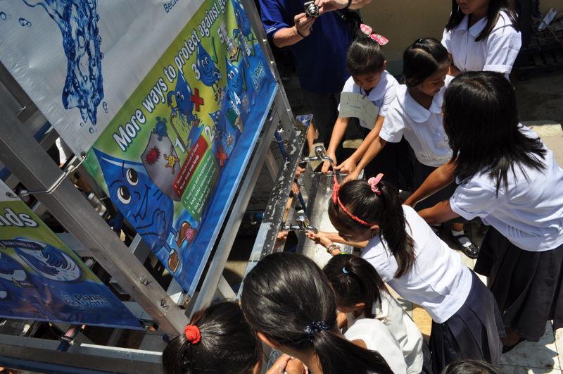 Chaque château d'eau fournit de l'eau à 1 000 personnes