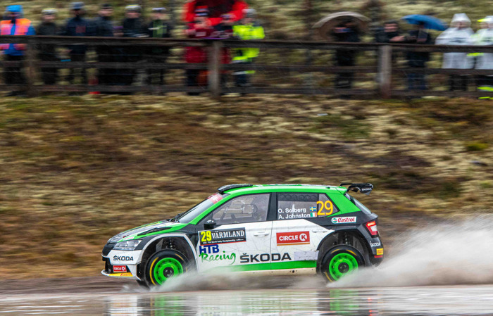 Rally Sweden/WRC3: ŠKODA privateers Emil Lindholm and Oliver Solberg finish second and fifth