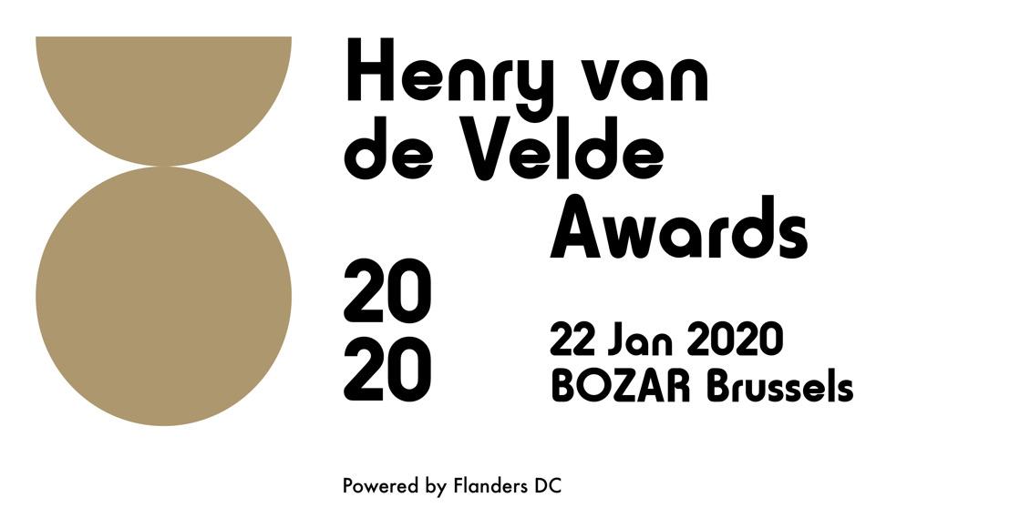 Uitnodiging persconferentie Henry van de Velde Awards 2020