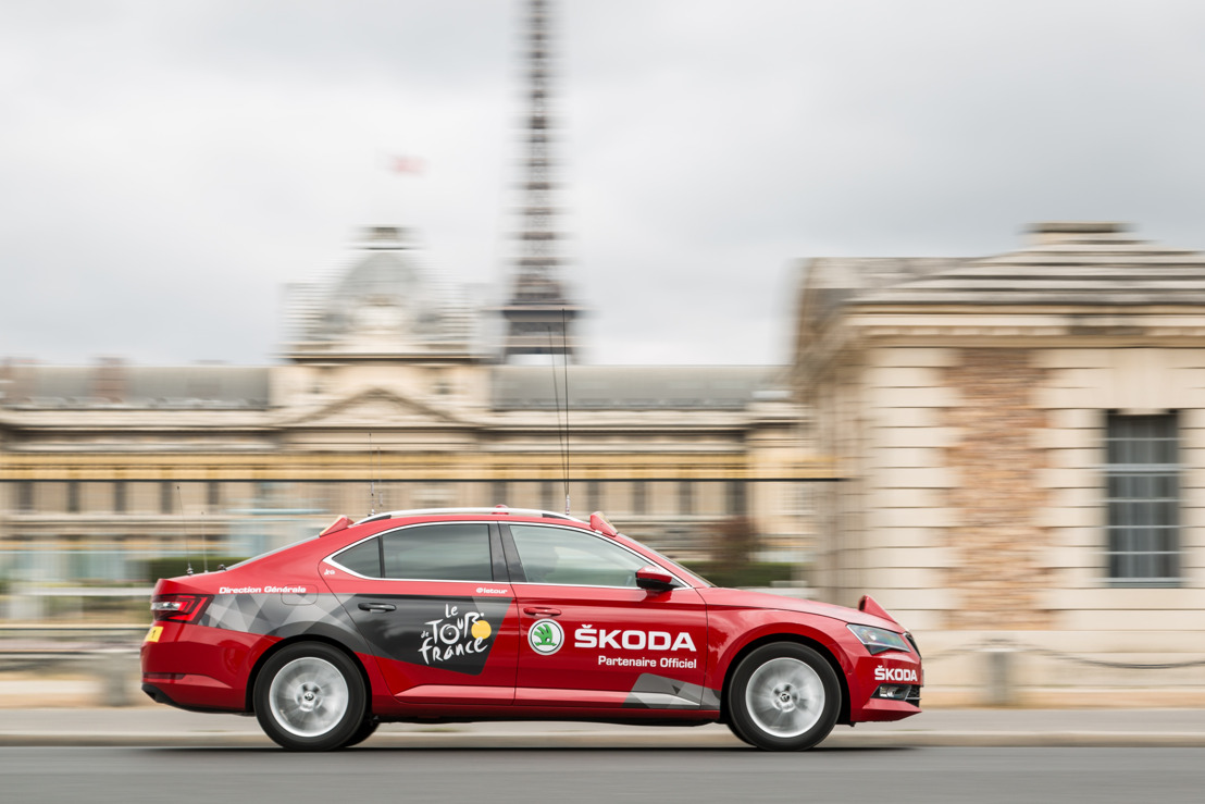 ŠKODA is the official partner of the Tour de France for the 15th time