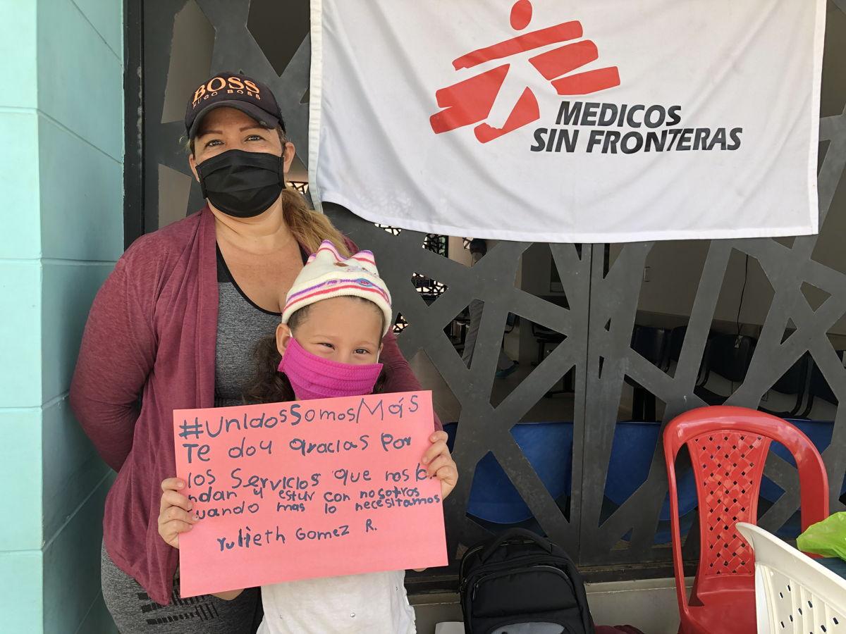 """""""Te doy gracias por los servicios que nos brindan y estar con nosotros cuando más lo necesitamos"""", la pequeña Yulieth Gomez agradece con un mensaje, enmarcado en la campaña"""