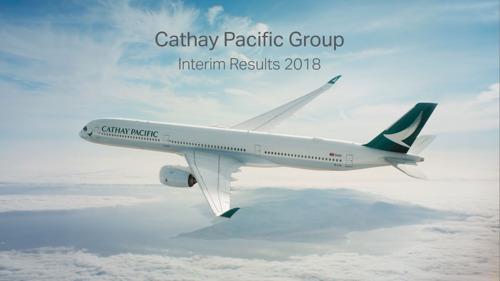 國泰航空有限公司公佈二零一八年中期業績