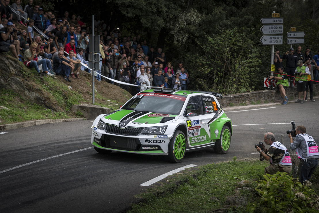 Czech ŠKODA works duo Jan Kopecký/Pavel Dresler claimed their third runner-up finish of the year in the FIA World Rally Championship (WRC 2) at the recent Rally France.