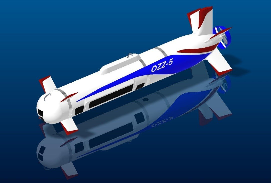 Drone autonome OZZ-5 pour la détection et la lutte anti-mines © Mitsubishi Heavy Industries