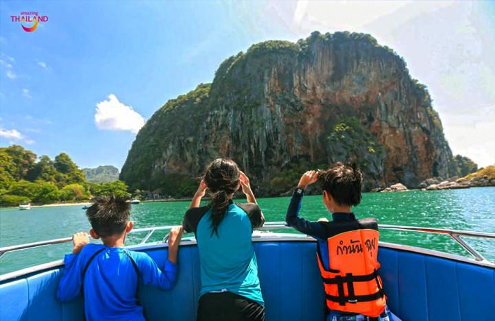 Phranang Princess Cave, Koh Khai Island en Koh Poda Island