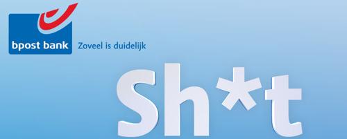 DDB Brussels en bpost bank maken sh*t-campagne