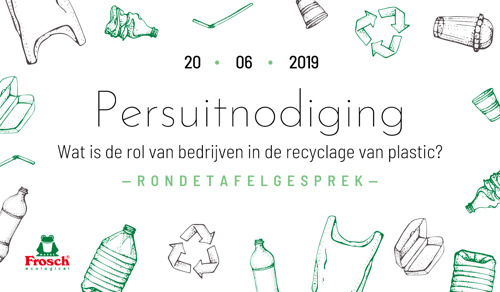 Uitnodiging voor rondetafelgesprek: Frosch en Belgische actoren delen oplossingen voor de overconsumptie van plastic