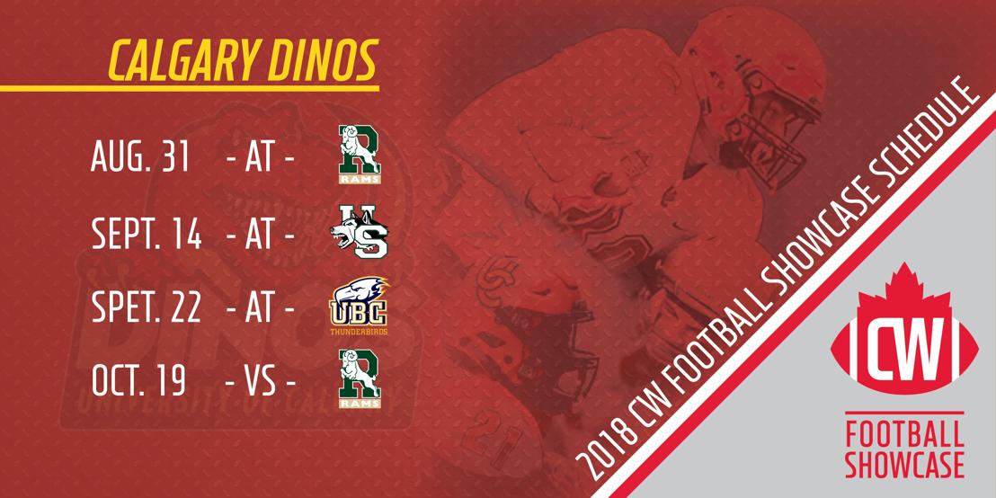 2018 Calgary Dinos CW Football Showcase schedule