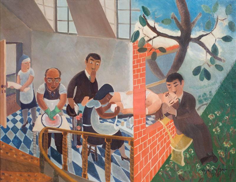 Edgard Tytgat, Voorspel van een gebroken liefde, 1928, <br/>©Musée de Woluwe-Saint-Lambert - Centre Albert Marinus, foto Renaud Schrobiltgen<br/>(c) SABAM Belgium 2017