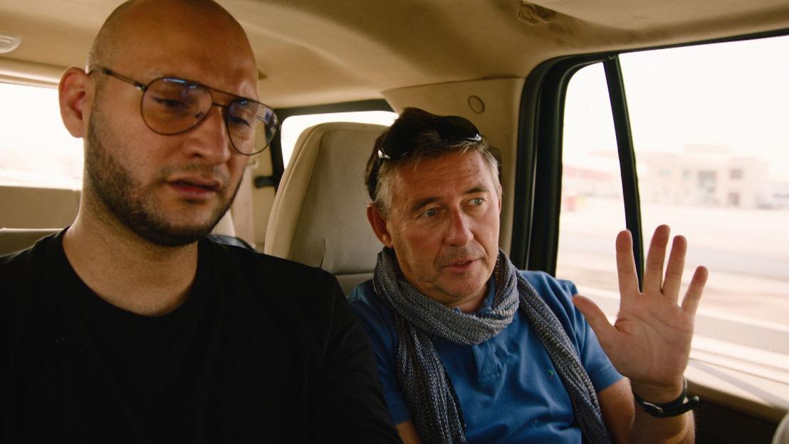 Brahim en Rudi Vranckx - (c) VRT
