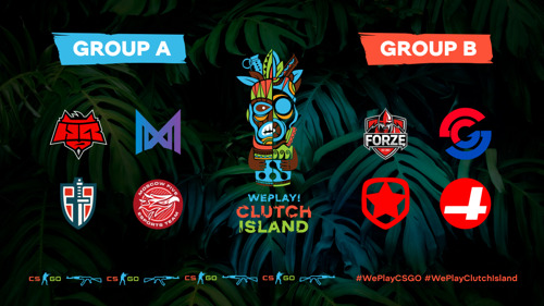 WePlay! Clutch Island stage one schedule announcement