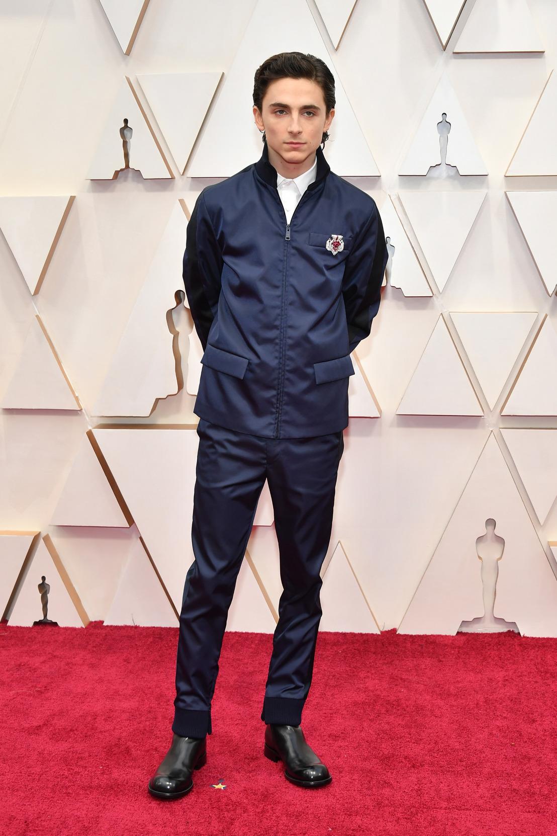 Timothée Chalamet usó Prada en la entrega número 92 de los Premios de la Academia
