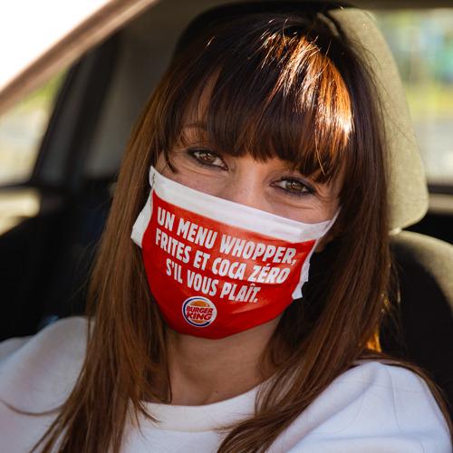 Le masque BURGER KING® vous ôte les mots de la bouche