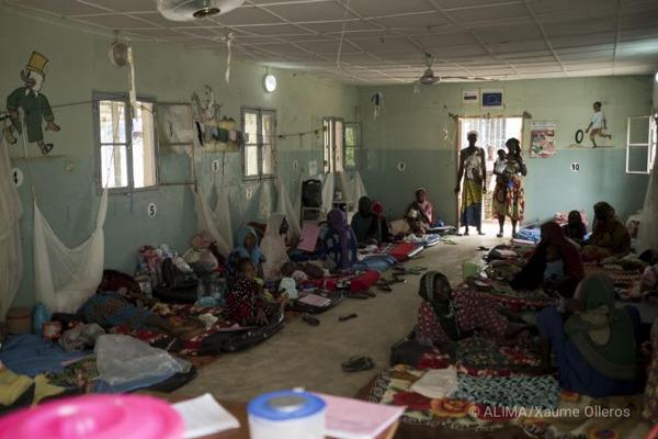 Centre de traitement nutritionnel d'Alima à N'Djamena. 2017.  ©ALIMA/Xaume Olleros