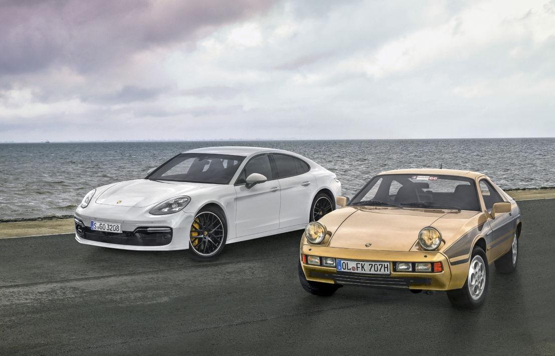 Porsche 928 y Porsche Panamera Turbo