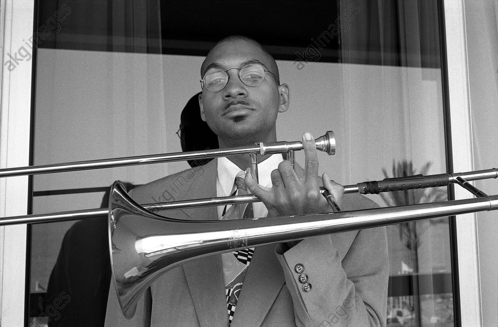 American Trombonist Delfeayo Marsalis in Nice, France<br/>AKG3543318
