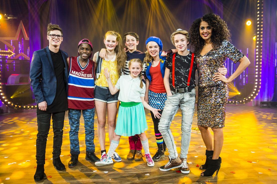 Ketnet Musical: de cast, kinderhoofdrollen en Tatyana Beloy en Thomas Van Achteren (c) Frederik Beyens
