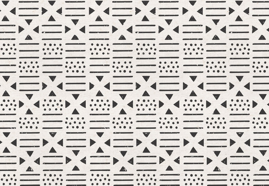 Black and Neutral Tribal Canvas Wallpaper