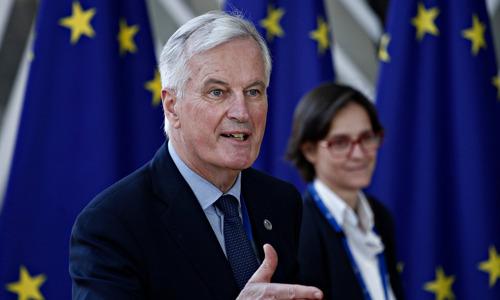 Brexit-hoofdonderhandelaar Michel Barnier bezoekt Vlaams Parlement