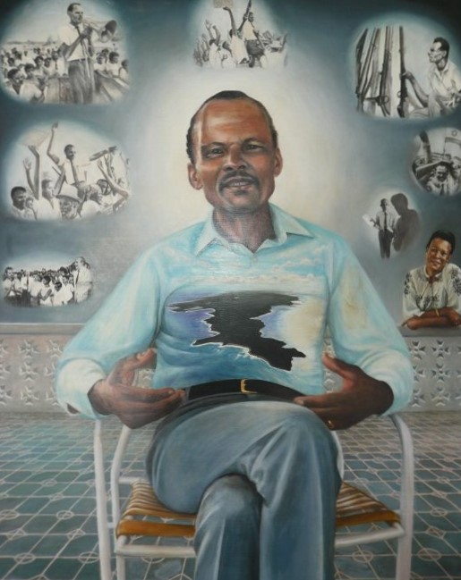 Artistic representation of Anguilla's 'Father of the Nation' Ronald Webster