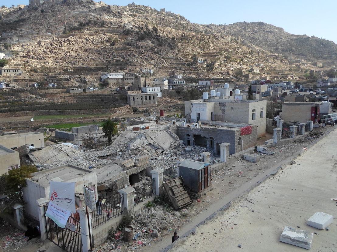 L'hôpital de Shiara après l'attaque. (c) MSF