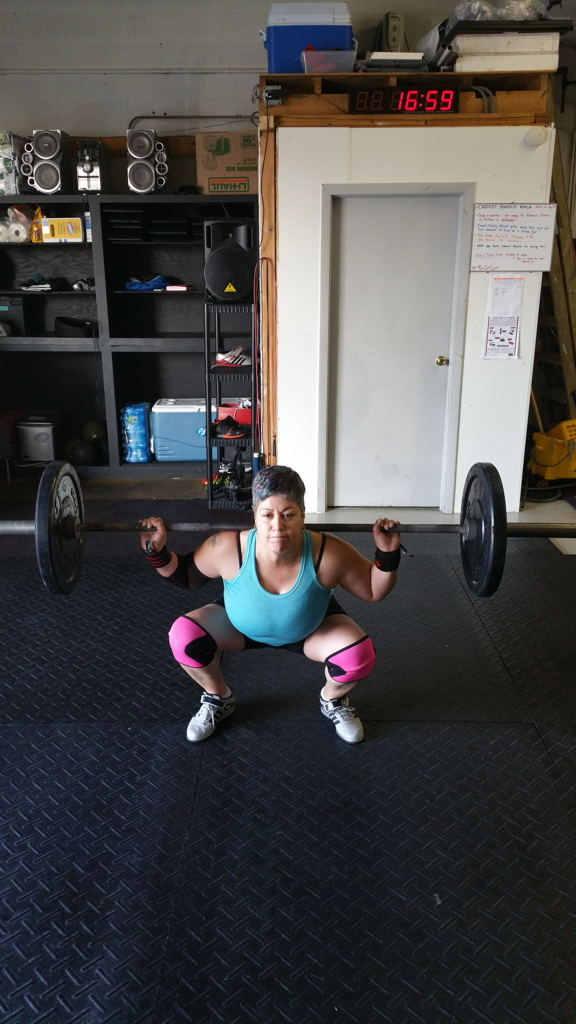 Juanita doing what she loves: CrossFit.