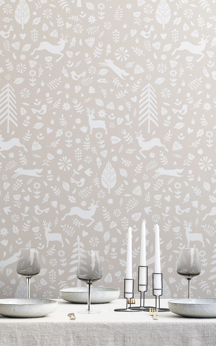 Enhance the festive feelings at home with this tasteful Christmas wallpaper
