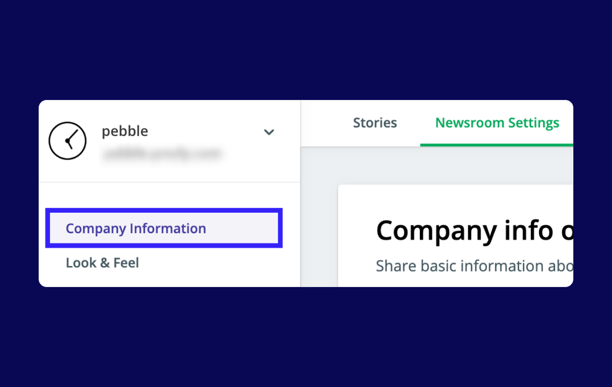 Help: Adding company information to your newsrooms