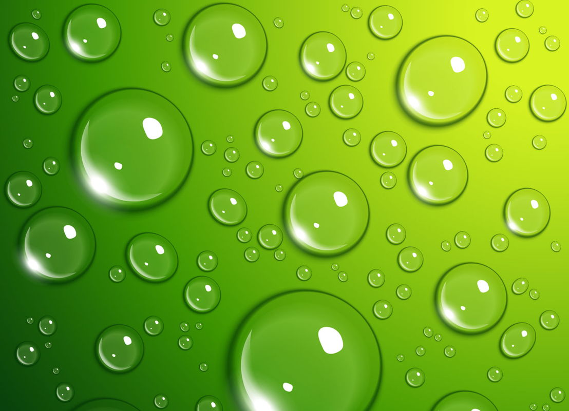 Lime Dew | Water Bubble Graphic Flooring