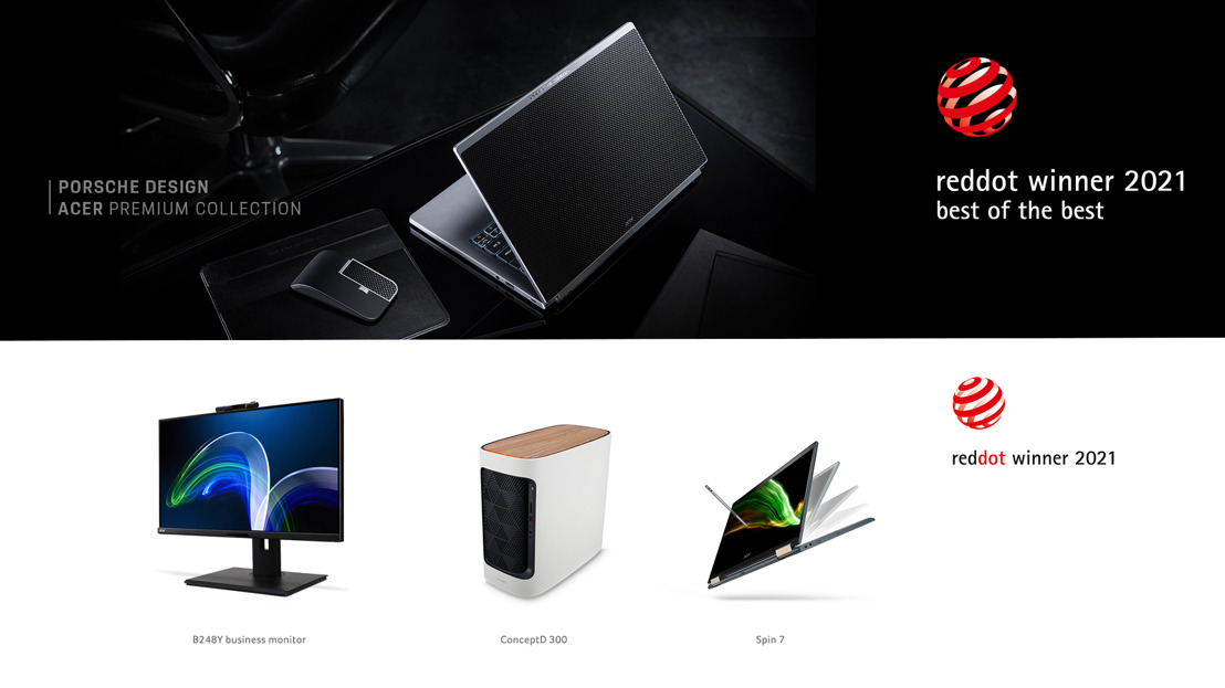 宏碁Porsche Design Acer Book RS、TravelPack RS 榮獲紅點「Best of the Best最佳設計獎」