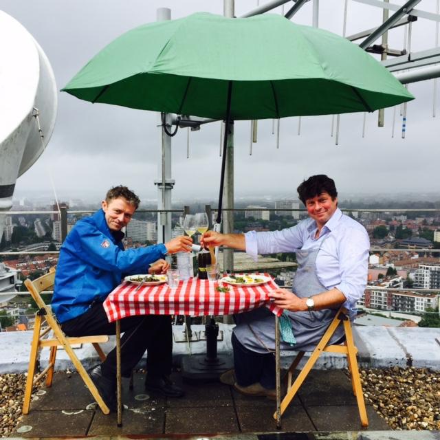 Frank en Wim koken op de VRT-toren