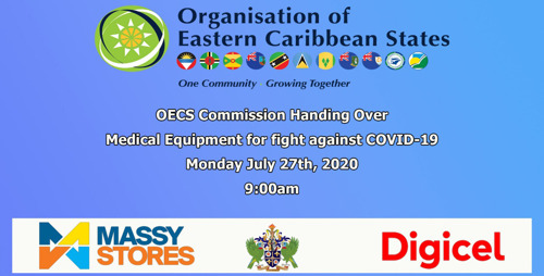 [MEDIA ALERT] OECS Commission hands over medical equipment to aid in the fight against COVID-19